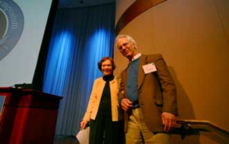 Daniel Fisher and former First Lady Rosalynn Carter